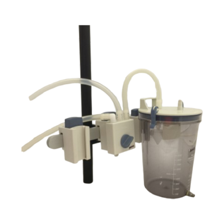 C-10040-1 – IV Pole Clamp for Canisters, Change-over Valve with Clamp Holder and Tubing Set C-10040-1 – IV Pole Clamp for Canisters, Change-over Valve with Clamp Holder and Tubing Set